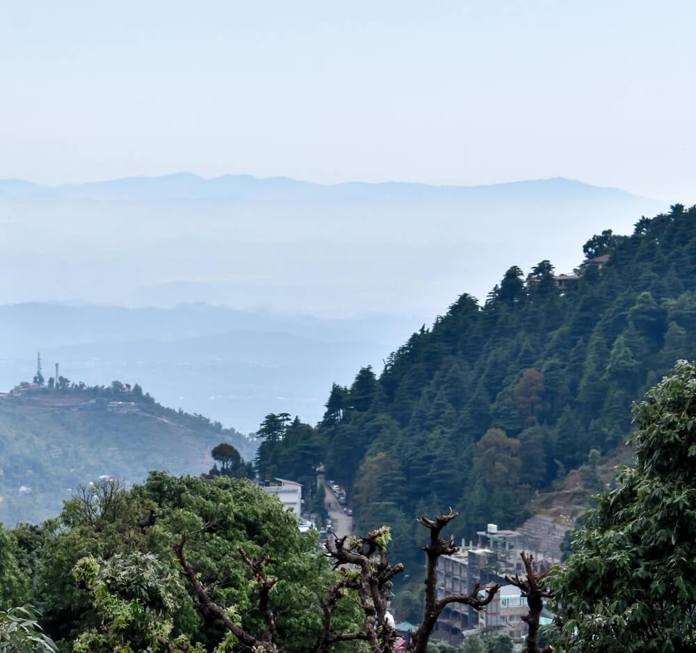 view+balcony+homestay+bhagsu+village+dharamshala in himachal pradesh photos