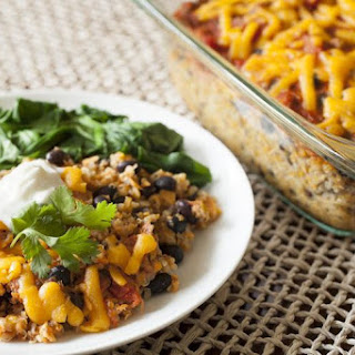 Cheesy Quinoa & Black Bean Casserole