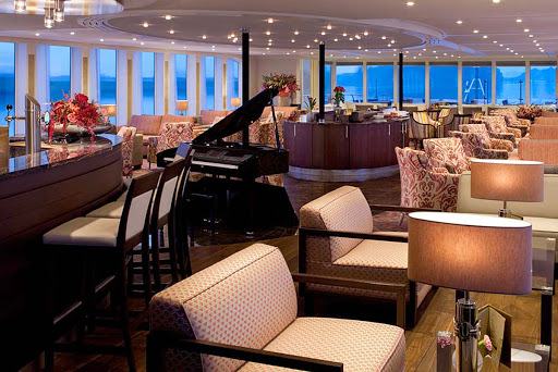 Meet interesting new people in the main lounge and bar aboard AmaCerto.