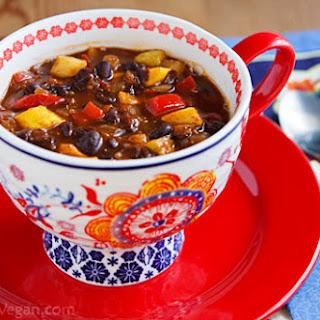 Black Bean-Pineapple Soup Stew Chili.