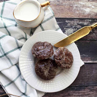 Baked Irish Coffee Chocolate Donut Holes with Irish Cream Glaze