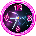 Neon Analog Clock Widget icon
