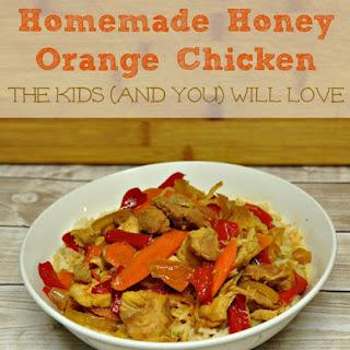 Homemade Honey Orange Chicken.