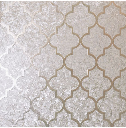 Arthouse Velvet Foil Trellis Tapet 294604 Rose guld