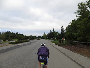 Photo: Chris riding away from me all day