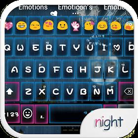 Romantic Night Emoji Keyboard