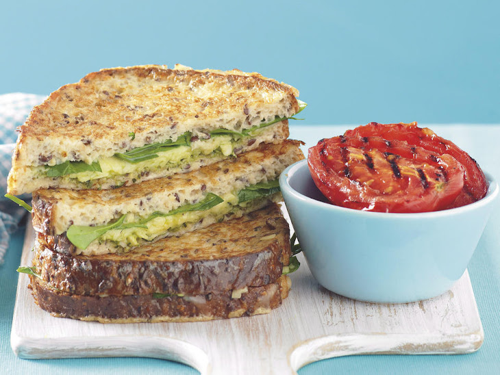 Savory French Toast Sandwiches with Pesto Recipe