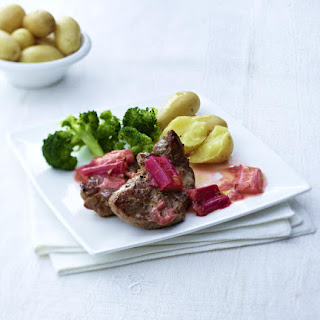 Lamb Chops with Rhubarb Sauce