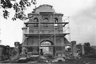 Photo: 08 1996 renowacja dzwonnicy kościoła