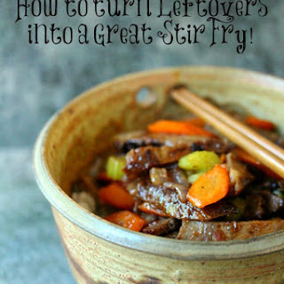 Beef Stir Fry (Using Leftover Roast) by Kim B- Cravings of a Lunatic.