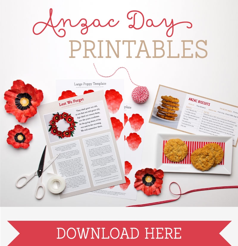 how to wear a poppy for anzac day
