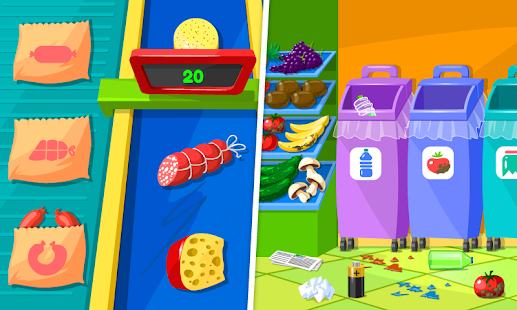Supermarket – Game for Kids poster