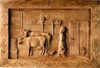 Photo: Tamaño: 80 x 120 cm. || Talla en madera. Woodcarving.   Puedes conocer más de este artista en el blog: http://tallaenmadera-woodcarving-esculturas.blogspot.com/