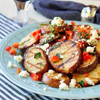 Warm Grilled Potato Salad with Lemon and Oregano
