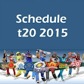 Schedule for t20 2015