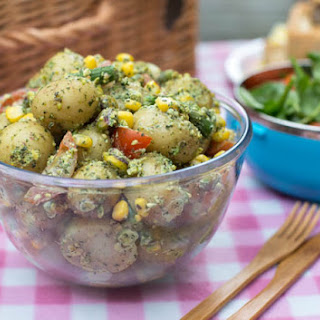 Mint And Pistachio Pesto Potato Salad