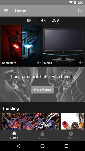 FANDOM for: Transformers Android App Screenshot