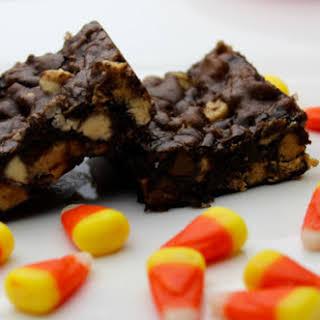 Peanut Butter Toffee Triple Chocolate Brownies.