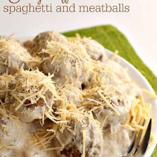Stroganoff Spaghetti and Meatballs