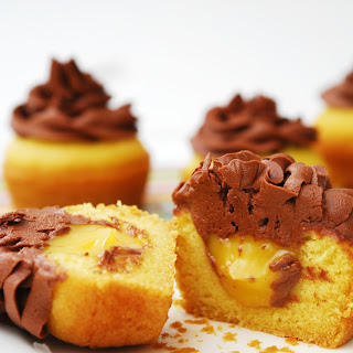 BOSTON CREAM PIE CUPCAKES (GF, DF, EGG, SOY, PEANUT/TREE NUT FREE, TOP 8 FREE, VEGAN)