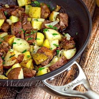 One-Skillet Roasted Steak & Potatoes.