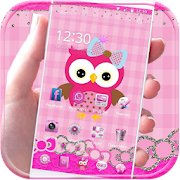 App Pink Owl Theme Rosy Lace Bow APK for Windows Phone