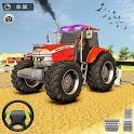 Real Tractor Farming Simulator 2020 Drone 3D Game icon