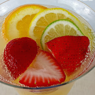 Strawberry Mimosas.