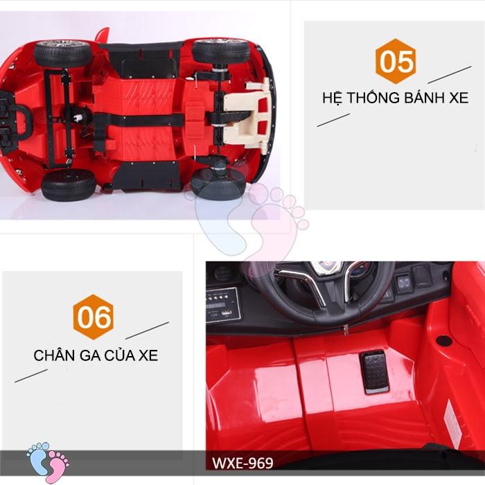Xe ô tô điện trẻ em WXE-969 13