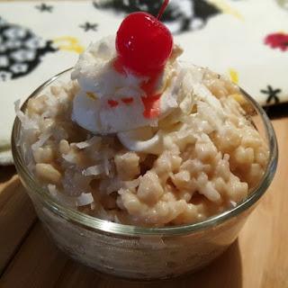 Pressure Cooker Creamy Coconut Rice Pudding.