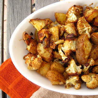 Spicy Baked Cauliflower and Sweet Potatoes Recipe