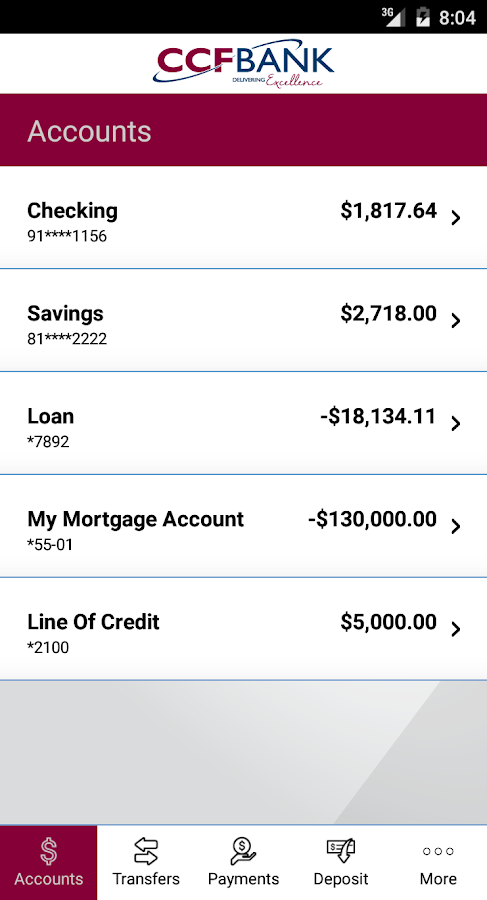 CCFBANK Mobile- screenshot