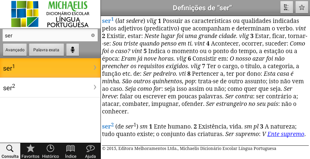 Michaelis Escolar Português- screenshot