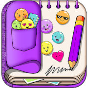 Purple Diary with Lock