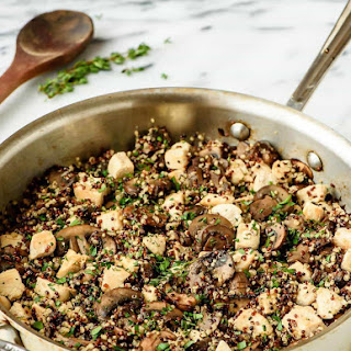 Skillet Mushroom Chicken and Quinoa.