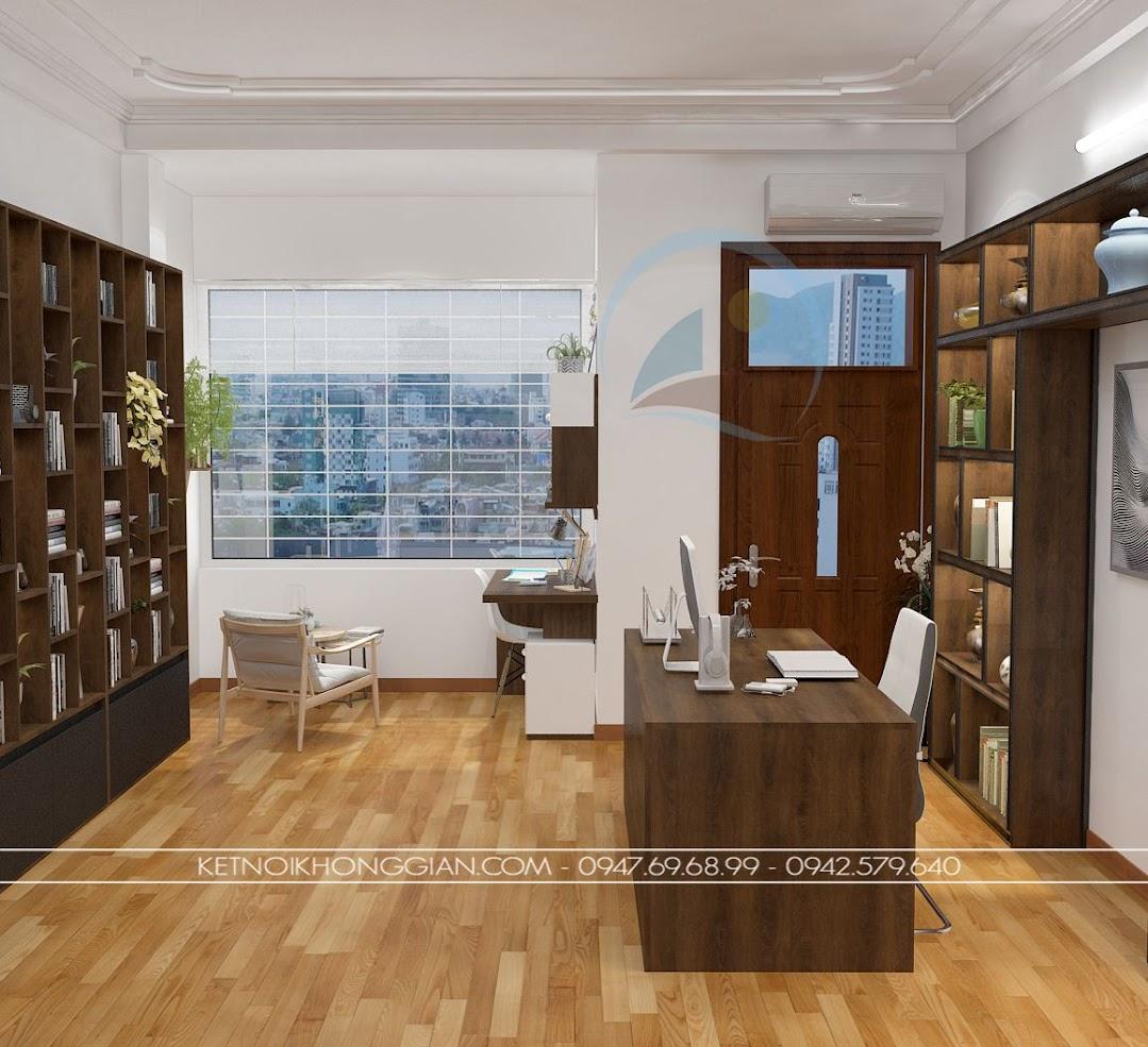 thiết kế phòng đọc sách kết hợp phòng làm việc và phòng học 2