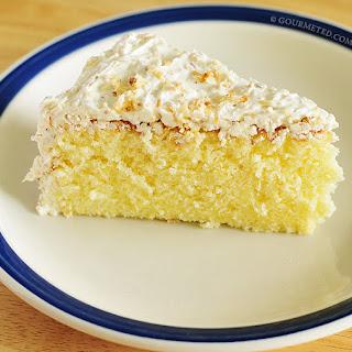 Mamon (Filipino Sponge Cake) with Coconut Lemon Buttercream