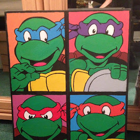 Ninja Turtles by Ryan Walker - Painting All Painting ( ninja, tmnt, michaelangelo, raphael, donatello, turtles, leonardo )