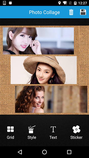 Photo Collage Editor Android App Screenshot