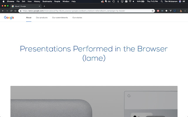 Chrome Presentation Mode