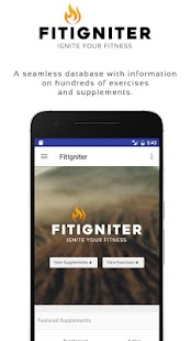 FitIgniter - Exercise, Workout and Nutrition- screenshot thumbnail