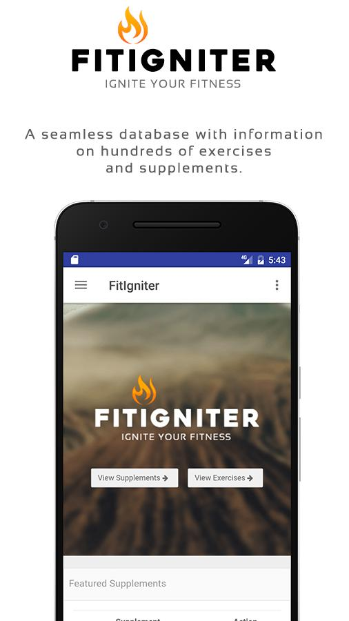 FitIgniter - Exercise, Workout and Nutrition- screenshot