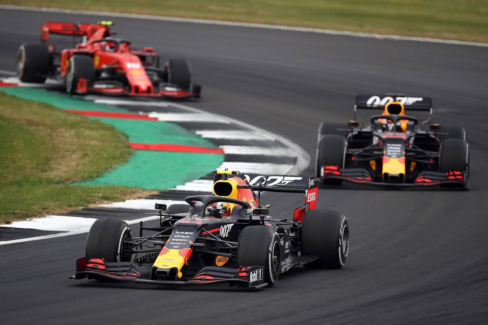 F1第10戦イギリスGP、ガスリー、フェルスタッペン、ルクレール