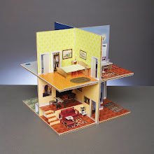 Photo: DREAM HOUSE When her son asked Katherine Belsey  '92 to make him a paper house, she was daunted. Now her website sells everything from popout cards to this tiny but fully furnished, eight-room house. House kit: $49.95. Use code 10%4BROWN for 10% off. makepopupcards.com