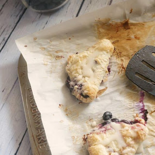 Rustic Blueberry Tarts with Lemon Glaze