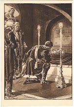 Photo: Król August II przy trumnie Męczennika.