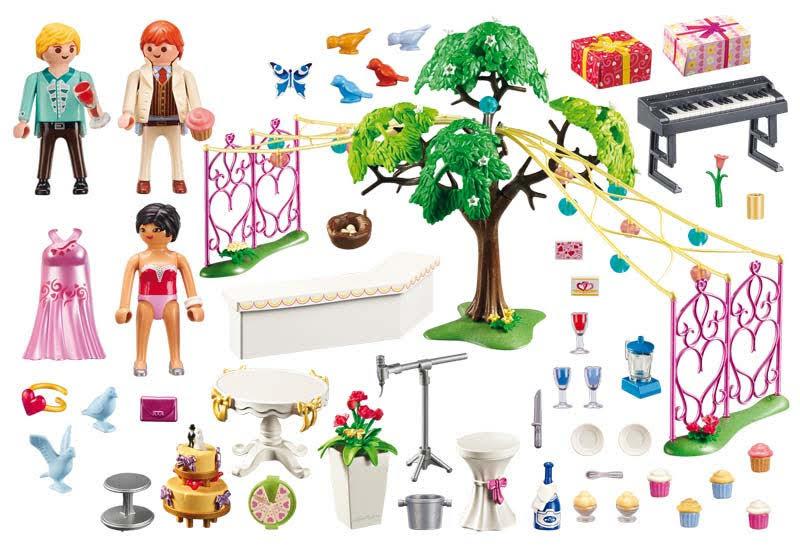 Contenido real de Playmobil® 9228 Banquete de Bodas