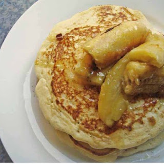 Pancakes with Caramelized Bananas and Honey Syrup