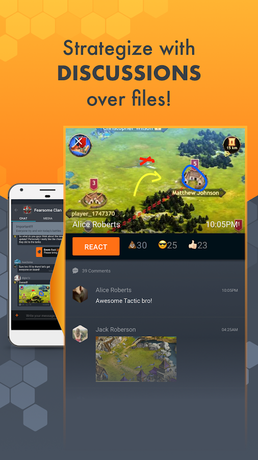 ClanPlay: Chat for Gamers supports Clash of Clans- screenshot