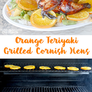 #ad Orange Teriyaki Grilled Cornish Hens.